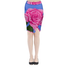 Roses Collections Midi Wrap Pencil Skirt from Sharon Tatem Fashions LLC Fashion Wearable Art Dresses, Tops, Skirts, Swim Suits, Beach Bags, Art Prints