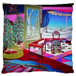 Christmas Ornaments and Gifts Large Flano Cushion Case (Two Sides) from Sharon Tatem Fashions LLC Fashion Wearable Art Dresses, Tops, Skirts, Swim Suits, Beach Bags, Art Prints Back